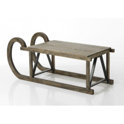 Table basse en pin et métal...