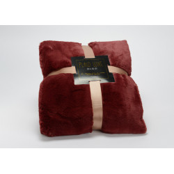 Plaid luxe 130x170 bordeaux