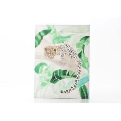 Toile léopard aquarelle...