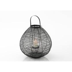 Lanterne noire en métal