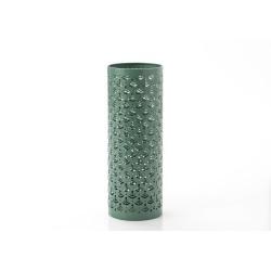 Porte-parapluie vert en métal