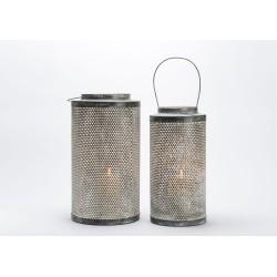 Set de 2 lanternes en zinc
