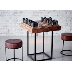 Table d'échecs en bois et...