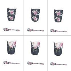 Coffret de 6 gobelets lily...