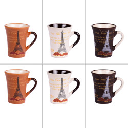 Coffret 6 tasses paris 8 cl