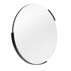 Miroir rond 51 cm noir