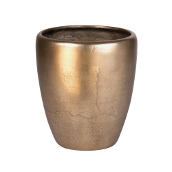Vase en métal doré cône...
