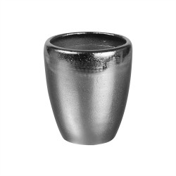 Vase en métal argenté cône...