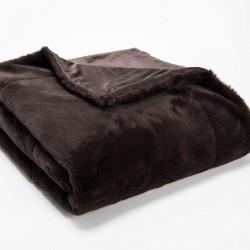Plaid Luxe chocolat 130x170 cm