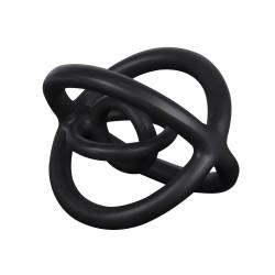 Sculpture en métal noir galaxy