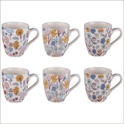 Coffret 6 mugs 23 cl wally...
