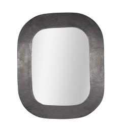 Miroir en métal noir 40x50 cm