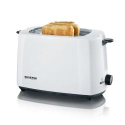 Toaster blanc deux fentes 700w