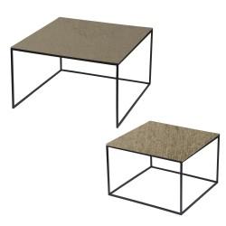 Set de 2 tables or carrées...