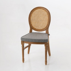 Chaise Stackable gris clair...