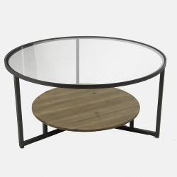Set 2 tables basses rondes...