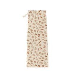 Sac à pain coton bio 65x20 cm