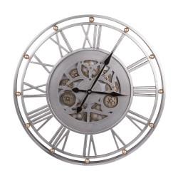 Horloge argent brossé grand...