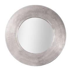 Miroir rond argenté 74 cm