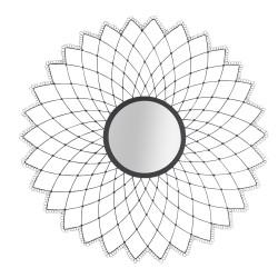 Miroir Mandala noir D79 cm