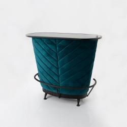 Bar Velvet bleu canard