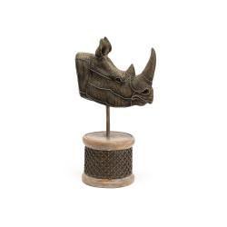 Trophée Rhinocéros perles...