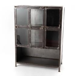 Vitrine en métal portes