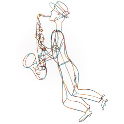 Toile filaire Saxophoniste...