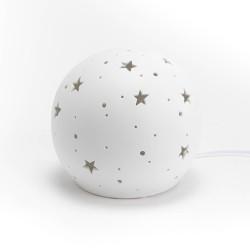 Lampe étoiles porcelaine