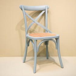 Chaise à croisillon vert...