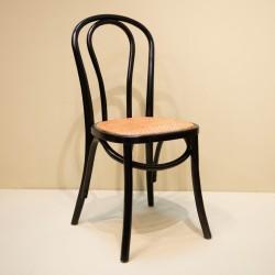 Chaise bistrot noir et...