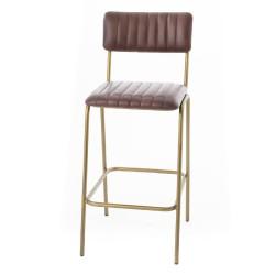 Chaise haute cuir Marron et...