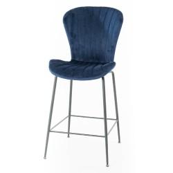 Chaise bar Coquillage bleu...