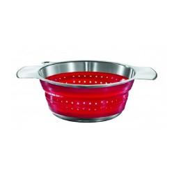 Passoire pliable 24cm Rouge