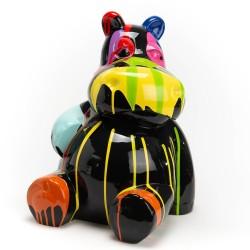 Hippo assis noir Trash en...