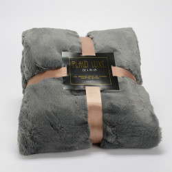 Plaid Luxe gris 170x240