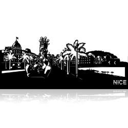 Plaque en métal Nice 40cm