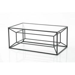 Table basse cubique noire