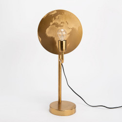 Lampe mappemonde dorée E27...