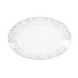 Plat ovale 35 cm éole gris