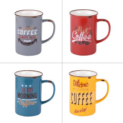 Coffret 4 mugs vintage 37...