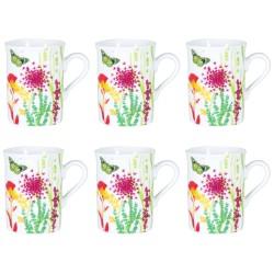 Coffret 6 mugs tutti fiori...