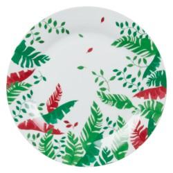 Assiette plate bornéo rouge...