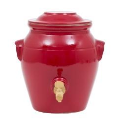 Vinaigrier en grès rouge 4l