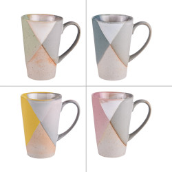 Coffret de 4 mugs 30 cl khysna