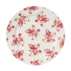 Assiette plate lilly rose...