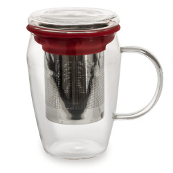 Mug infuseur 43 cl boro rouge
