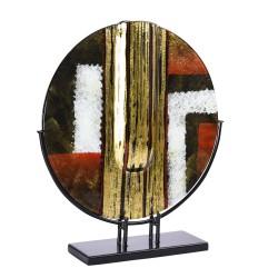 Vase disque sur socle...