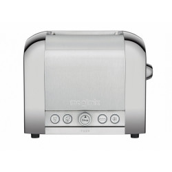 Toaster 2 inox mat brillant