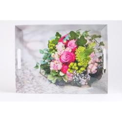 Plateau bouquet 50x37cm